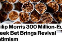 "Bloomberg: ""Τζούρα"" αισιοδοξίας απο την Phillip Morris"